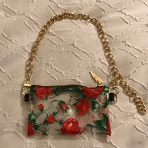 Betsey Johnson Clear Floral Fanny